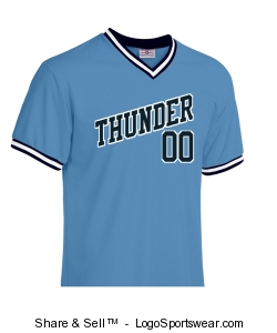 Thunder Tournament Jersey #1 Design Zoom